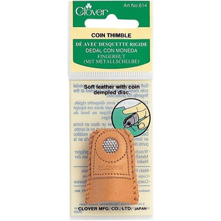 Medium-sized Soft-leather Clover Simple Brass Disc Coin Thimble