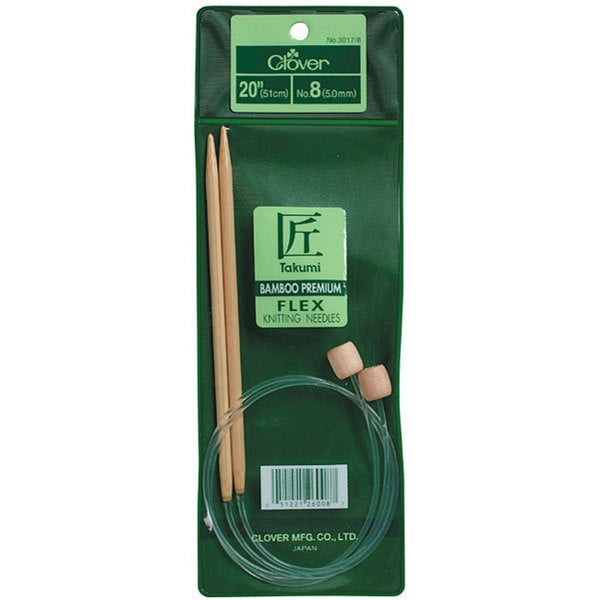Bamboo Flexible 20-inch Size 10 Knitting Needles