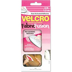 Velcro Fabric Fusion 3/4 inch x 5 feet White Tape