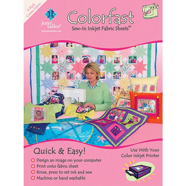 Colorfast Sew-in Cream Inkjet Fabric Sheets (Set of 3)