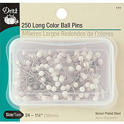 Size 24 Long Color Ball Pins (Set of 250)