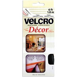 Velcro Black Home Decor Tape (1 inch x 6 feet)