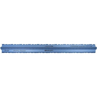 Grip and Rip 12-inch Aluminum Tearing Ruler with Zero Centering