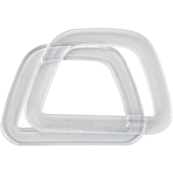 D-shaped Plastic Handles with Glitter (Pack of 2)