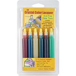 3-D Crystal Lacquer Country Color Set (Pack of 6)