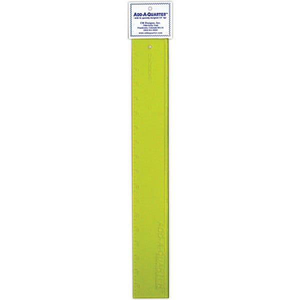 CM Designs Add-A-Quarter 18-inch Yellow Ruler
