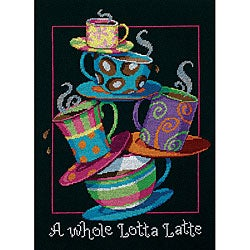 'A Whole Lotta Latte' Counted Cross Stitch Kit