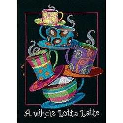 'A Whole Lotta Latte' Counted Cross Stitch Kit