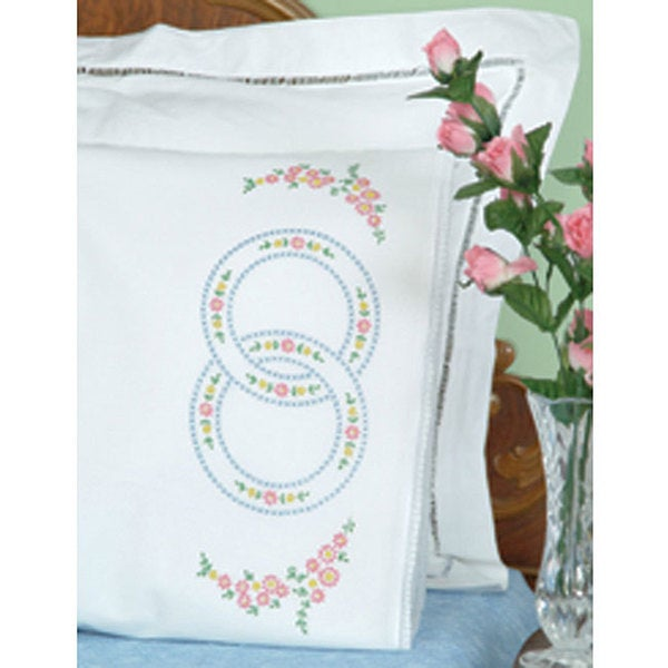 Wedding Rings Stamped Pillowcases (Set of 2)