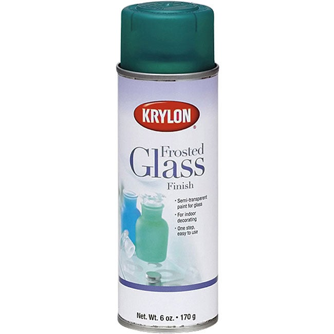 krylon frosted white 6 oz aerosol glass finish for