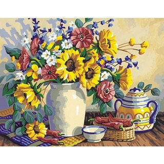 Sunflower Still Life 14x11 Paint by Number Kit