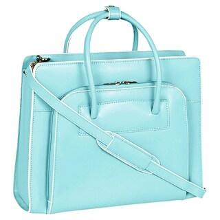 McKlein Women's Blue Lake Forest Italian Leather Laptop Case
