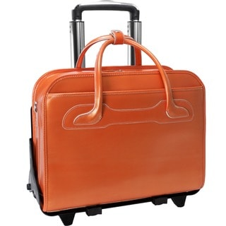 McKlein Orange Willowbrook Detachable-Wheeled Laptop Briefcase