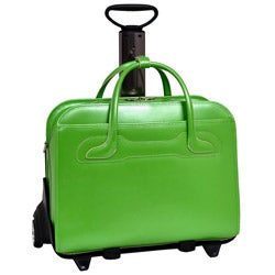 McKlein Green Willowbrook Detachable-Wheeled Laptop Briefcase