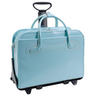 McKlein Blue Willowbrook Detachable-Wheeled Laptop Briefcase