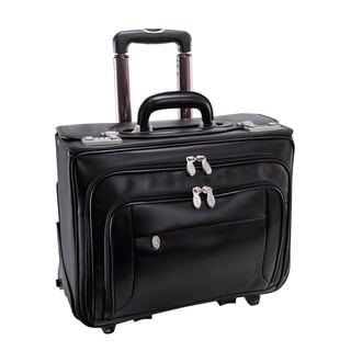 McKlein Black Sheridan 17in. Detachable-Wheeled Laptop Case