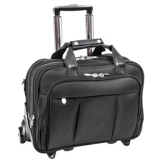 McKlein Damen Nylon Detachable-Wheeled Laptop Case