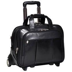 McKlein Damen Leather Detachable-Wheeled Laptop Case