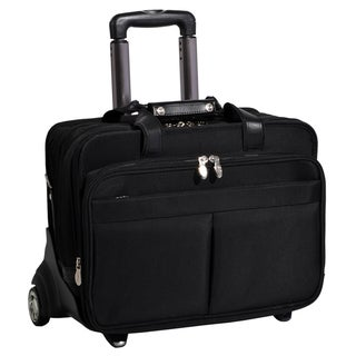 McKlein Roosevelt Black Nylon Detachable-Wheeled Laptop Case