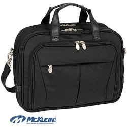 McKlein Black Pearson Expandable Laptop Briefcase