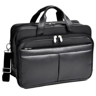 McKleinUSA WALTON (Black) Expandable Compartment Laptop Case