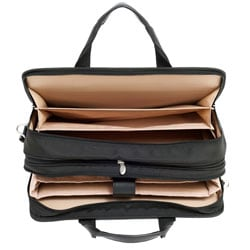 McKlein Walton Black Nylon Expandable Compartment Laptop Case