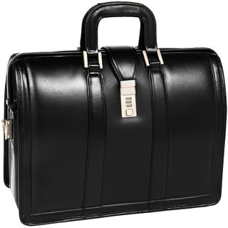 McKlein Morgan Black 17in. Litigator Laptop Briefcase
