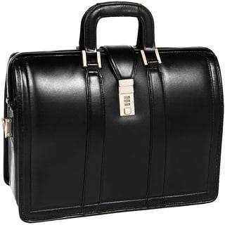 McKlein Morgan Black Litigator 17-inch Laptop Briefcase