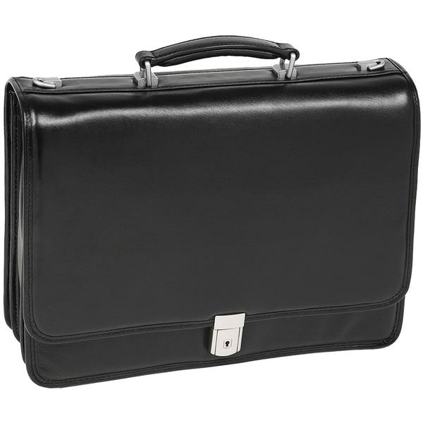McKlein Black River North Triple Compartment 17-inch Laptop Briefcase