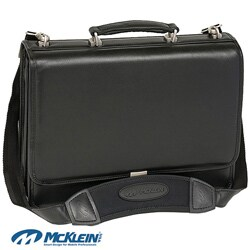 McKlein Black River North Triple Compartment Laptop Briefcase