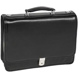 McKlein Black River North Triple Compartment Laptop Briefcase