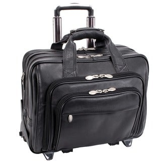 McKlein Black Gold Coast 17-inch Detachable-wheeled Laptop Case