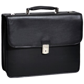 McKlein Ashburn Black Leather 15.4-inch Laptop Briefcase
