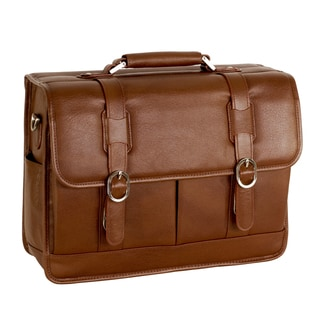 McKleinUSA Beverly Brown Leather Laptop Case