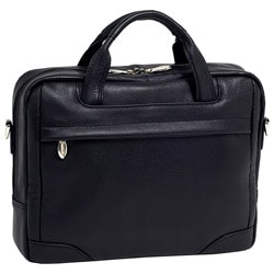 McKlein Black Bridgeport Leather 17-inch Laptop Briefcase