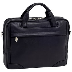 McKlein Black Bronzeville Leather 15.4-inch Laptop Briefcase