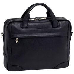 McKleinUSA Montclare Black SMALL Leather Laptop Briefcase