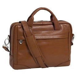 McKleinUSA Montclare Brown SMALL Leather Laptop Briefcase