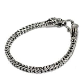 Sterling Silver 'Dragon Art' Bracelet (Thailand)