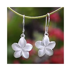 'Frangipani' Earrings (Indonesia)