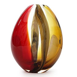 'Crimson and Amber Power' Murano Vase (Brazil)