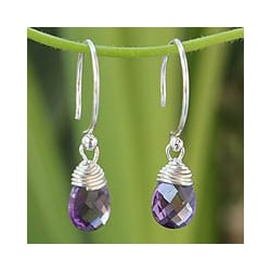 Amethyst 'Glowing Exotic' Earrings (Thailand)