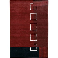 Hand-tufted Mandara Contemporary Wool Rug (7'9 x 10'6)