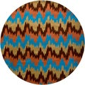 Mandara New Zealand Multi-Colored Wool Rug (7'9 Round)