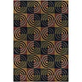 Hand-Tufted Geometric Mandara Wool Rug (7'9 x 10'6)