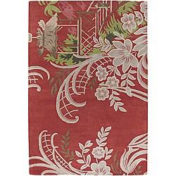 Hand-tufted Contemporary Mandara Wool Rug (5' x 7'6)