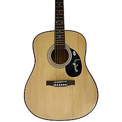 Willie Nelson Autographed Acoustic Guitar