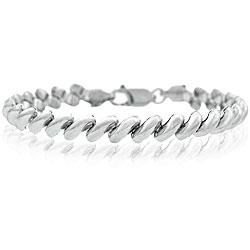 Mondevio Sterling Silver San Marco Link Bracelet
