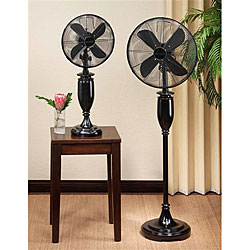 Deco Breeze Blackwood Bright 55-inch Standing Floor Fan