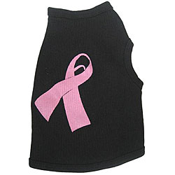 'Cancer Ribbon' Cotton Dog Tank Top